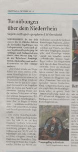 Bericht über den Kunstfluglehrgang aus den Niederrhein Nachrichten