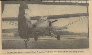 Flugzeug am Niershorst 1963
