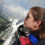 Anna auf dem Berg der Segelflieger