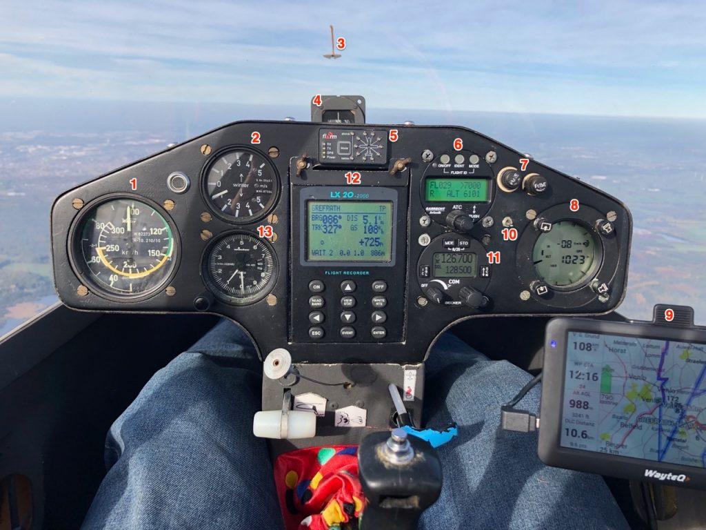 Segelflugzeug Cockpit